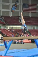 Queen of Hearts Invitational 2013 Beam Side Handstand - Level 6