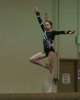 Queen of Hearts Invitational 2017 Beam Pose - Level 8